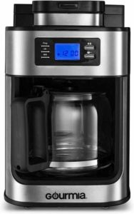Gourmia GCM4500 Coffee Maker with Built-In Coffee Grinder